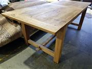 Sale 8717 - Lot 1020 - Recycled Elm Dining Table (H: 76 L: 220 W: 90cm)