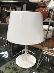 Sale 8872 - Lot 1097 - White Metal Table Lamp