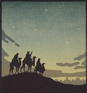 Sale 9078A - Lot 5094 - John Hall Thorpe (1874-1947) - The Wise Men 20.5 x 19.5 cm (sheet: 29.5 x 27.5 cm)
