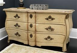Sale 9248H - Lot 112 - A French style chest of 3 drawers height 75 x 157 x 63cm
