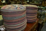 Sale 8093 - Lot 1340 - Pair of Kilim Ottomans and Another