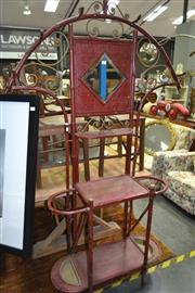Sale 8161 - Lot 1037 - Split Cane Mirrored Back Hall Stand