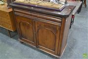 Sale 8255 - Lot 1067 - Late 19th Century Cedar Chiffonier, with single drawer & arched panel doors