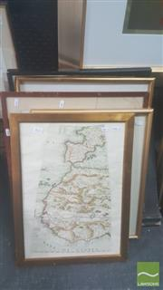 Sale 8446 - Lot 2032 - Collection of (6) Framed Early Maps, various sizes
