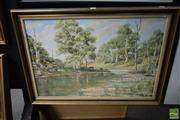 Sale 8506 - Lot 2050 - Peter Vincent, Oil on Canvas, Cattle by the River, 50x75cm, signed verso