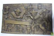 Sale 8529 - Lot 194 - Swiss Black Forest Relief Carving, Tavern Scene ( 66 x 10 cm)