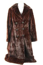 Sale 8564 - Lot 331 - A VINTAGE HAMMERMAN ERMINE FUR DOUBLE BREASTED COAT; great condition, with silk cord buttons, size small.