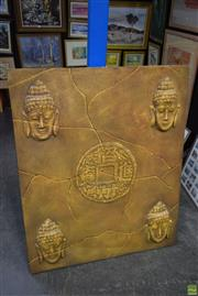 Sale 8569 - Lot 2065 - Buddha Themed Canvas Artwork, 120 x 90cm