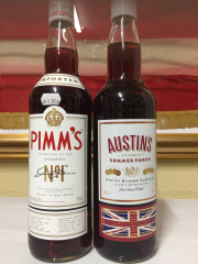 Sale 8677B - Lot 988 - A bottle of Pimms with a bottle of Austins classic summer punch