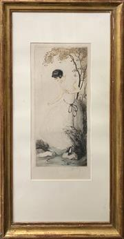 Sale 8686 - Lot 2011 - J Hardy - Stepping Stones, colour etching, 87 x 46cm (frame size), signed lower right