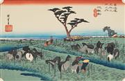 Sale 8845 - Lot 2016 - After Hiroshige - Chiryu (from Fifty-three Stages of the Tokaido) 22.5 x 35cm