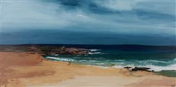Sale 9161 - Lot 549 - CHERYL CUSICK Rocky Point acrylic on canvas 91 x 182.5 cm signed lower right, titled verso