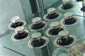 Sale 7874 - Lot 44 - Wedgwood Set of 8 Blue & Gilt Demi Tasse Cups & Saucers