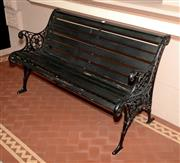 Sale 8107B - Lot 2 - A Victorian cast iron and timber bench Width 126cm