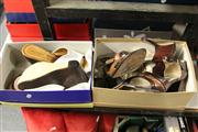 Sale 8173F - Lot 332 - TWO PAIRS OF ITALIAN LEATHER SANDLES; Zoe Wittner clogs as new (38) and Alta Linea flats (36).