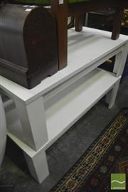 Sale 8326 - Lot 1305 - Pair Of White Timber Coffee Tables