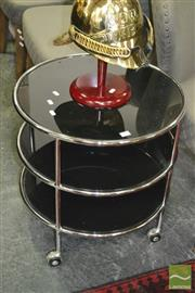 Sale 8440 - Lot 1029 - Modern Glass Top Side table