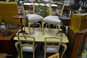 Sale 8499 - Lot 1370 - French Style Seven Piece Dining Setting incl. Extension Table & Six Chairs