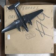 Sale 8809B - Lot 625 - Vintage Minavia Avenger Recognition Silhouette Spotter Aircraft Model of D.C.3, metal, as new in original box (wingspan 23cm)