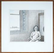Sale 9032A - Lot 5002 - Brian Dunlop (1938 - 2009) - Seated Nude 48.5 x 51.5 cm (frame: 81 x 81 x 2 cm)