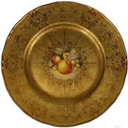 Sale 8065 - Lot 82 - Royal Worcester Painted Fruit Plate by Alan Telford
