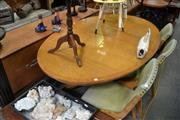 Sale 8115 - Lot 1274 - Oval Table on Birdcage Base w Claw Feet