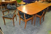 Sale 8235 - Lot 1032 - Vanson Teak Dining Table and 6 Chairs