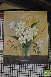 Sale 8506 - Lot 2078 - Artist Unknown, Oil on Canvas, Still Life, 60x50cm