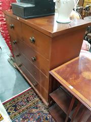 Sale 8700 - Lot 1031 - Timber Chest of Five Drawers
