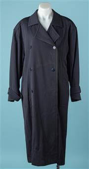Sale 9027F - Lot 91 - An Escada woollen navy button fronted long coat by Margareths Ley size 36