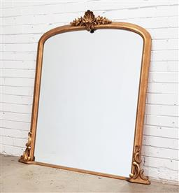 Sale 9126 - Lot 1224A - Late Victorian over mantle mirror (h:141 x w:132cm)