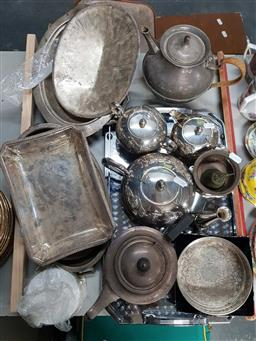 Sale 9176 - Lot 2571 - Collection of Plated Wares incl. Tea Service, Tray, Dishes, etc