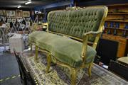 Sale 8031 - Lot 1039 - Gilt Framed 2 Seater Sofa