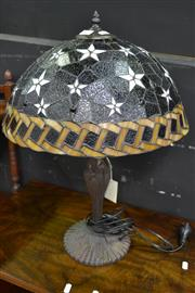 Sale 8127 - Lot 804 - Leadlight Shade Table Lamp