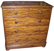 Sale 8258A - Lot 77 - Victorian mahogany chest of five drawers including a deep bottom drawer, nicely restored, RRP $4500, W 106 x D 54 x H 110cm