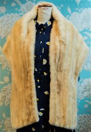 Sale 8448A - Lot 69 - Stunning vintage 1950s National Fur Co honey blonde mink stole featuring beautiful fitted style and crescent shaped back  Conditi...