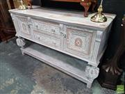 Sale 8554 - Lot 1013 - Shabby Chic Heavily Carved Sideboard