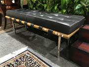Sale 8795 - Lot 1041 - Leather Upholstered Top Modern Two Seater Bench