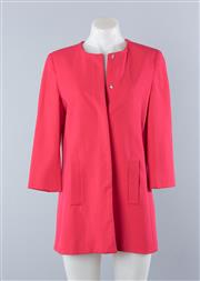 Sale 8800F - Lot 80 - A pink collarless overcoat by Zara Basic Collection, size S