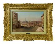 Sale 8940J - Lot 65 - Boats in Marseilles by Charles Saint Geran  1884-1963 French. Oil on panel signed in French period frame. 26 x 40 cm