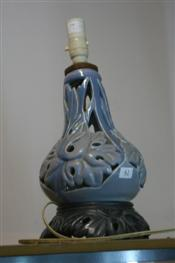 Sale 7876 - Lot 42 - Australian Pottery Art Nouveau Inspired Lamp