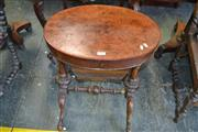 Sale 8093 - Lot 1764 - Victorian Burr Walnut Sewing Table