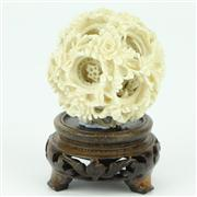 Sale 8273 - Lot 51 - Ivory Carved Puzzle Ball