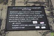 Sale 8326 - Lot 1706 - Cast Iron Reproduction Southern Railways Company Sign