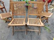 Sale 8740 - Lot 1215 - Set of 6 Timber Folding Chairs
