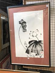 Sale 8816 - Lot 2037 - Chinese School - Still Life ink, 94 x 63cm, stamped lower right