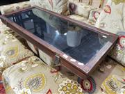 Sale 8826 - Lot 1093 - Timber Table Top Display Case with Lift Top