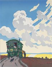 Sale 9078A - Lot 5068 - John Hall Thorpe (1874-1947) - The Caravan 33.5 x 26.5 cm (sheet: 43.5 x 34.5 cm)