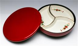 Sale 9153 - Lot 71 - A fitted lacquered Japanese tray (dia 27cm)