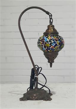 Sale 9166 - Lot 1066 - Moroccan style table lamp with tear drop shade (h:43cm)